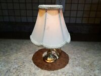 Vintage Brass Lamp Candle Clip On Shade Table