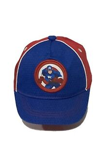 Marvel Captain America Kids Hat Mesh Blue And Red Multicolored Xs 6-24 Months