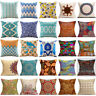 Retro Bohemian Flower Boho Throw Pillow Cover Sofa Cushion Pillowcase Home Decor