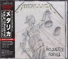 Metallica ...And Justice For All Japan 1st CD Obi 1988 25DP 5178