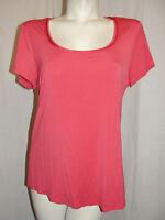 WHBM White House Black Market Top Women's Size L Nailposh SS Layering Tee Shirt