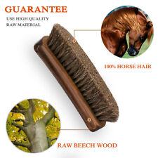 Natural Beechwood Bristle Horse Hair Shoes Brush Boot Care Clean Shine Polish