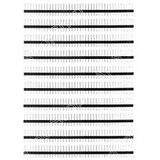 10Pcs 40Pin 2.54mm Iron Macho Single Row Straight Pin Header Conector
