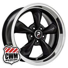 "17 inch 17x8"" Classic 5 Spoke Black Wheels Rims for Chevy Monte Carlo 70-81"