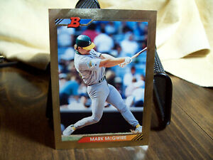MARK McGWIRE GOLD FOILED BOWMAN 1992 card number #620 1984 Olympic Games Alumni