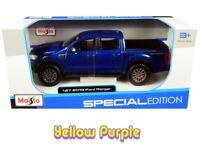 Maisto 1:27 2019 Ford Ranger Pickup Truck Diecast Model Car Metallic Blue 31521