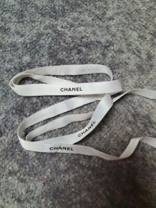 New CHANEL authentic ribbon white reel - 1.5cm wide X 100m for crafting & art