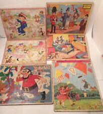 Lot of 6 Vintage Jigsaw Puzzles Jaymar Disney Polly pal Fair Child Frame Tray