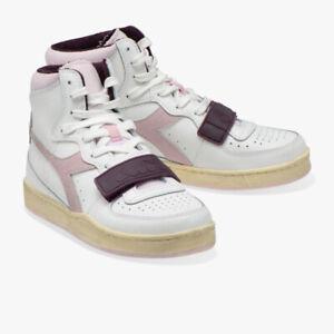 Scarpa Sneakers Uomo DIADORA MI BASKET USED White/Cradle Pink
