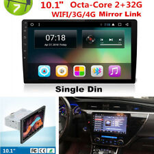 "2GB+32GB 10.1"" Single Din Android 8.1 Car SUV GPS Wifi 3G 4G BT DAB Mirror Link"