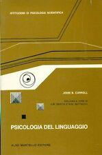 CARROLL John B., Psicologia del linguaggio