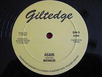 """REGGAE 12"""" 45 - MICHELEE - AGAIN / VERSION - GILTEDGE D1968"""