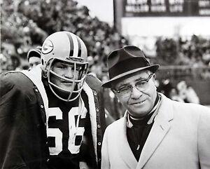 Ray Nitschke & Vince Lombardi Green Bay Packers, 8x10 B&W Photo