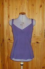 WALLIS mauve purple grape v neck srappy camisole vest tunic  t-shirt top 12 40
