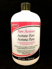 SUPERNAIL PURE ACETONE USED TO REMOVE ACRYLICS GEL POLISH WRAPS AND POLISH 16oz
