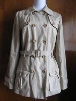 Vince women's khaki detailed lined coat Size Large NWT