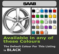 SAAB Decals/Stickers for Alloy Wheels  x 6