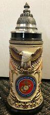 US Marines Rustic German Beer Stein .75L USMC ONE Military Mug Made in Germany