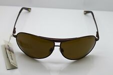 Skagen Logo Aviator Titanium Sunglasses Plastic Brown Lenses 100% UV Protection