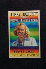 Jimmy Buffett Tour Poster 1977 Savanah Civic Auditorium