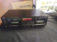 JVC TD-W777 Dual Tape Cassette Deck - High Speed Stereo Dubbing / Recorder