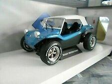 VW Volkswagen Buggy Dune Meyers Manx 1970 blau mit Dach Solido Metall NEU 1:18