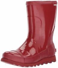 d7f8fe41d0c5 Sorel Joan Women s Rain Short Gloss Red Boot Size 9 1172