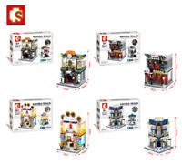 Sembo Blocksteine Shop Leichte Bankkeramik Figur Spielzeug Modell Geschenk 4set