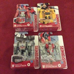 "Transformers DECEPTICON Megatron, Optimus Prime, Bumblebee & Starscream 4"" Figs"