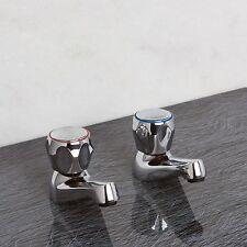 SureTaps Modern Chrome Bath tap set, Solid Brass, Roundhead Hot & Cold Taps