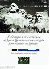 PUBLICITE ADVERTISING 096  1998  Cross  stylo plume  figures légendaires