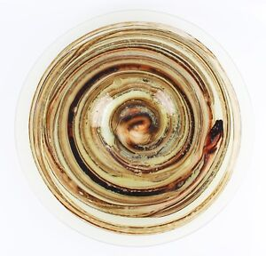 vintage large Isle of Wight Tortoiseshell Michael Harris signed circular charger