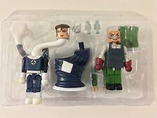 MiniMates Marvel 2-Pack FANTASTIC & PUPPET MASTER Diamond Select Toys New Loose