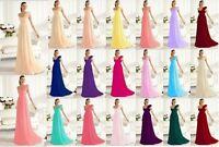 New One shoulder Bridesmaid Dress Formal Evening Dress Size 6-8-10-12-14-16-18