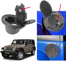 1*Gas Fuel Tank Cap Cover Accessories for Jeep Wrangler JK 07-17 With Lock & key