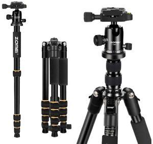 ZOMEi Q666C Lightweight Carbon Fibre Tripod Monopod w/ Ball Head For DSLR Camera