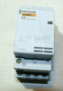 Contacteur Merlin Gerin multi9 CT 25A 400v tri bobine 220v
