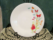 Fiesta Ware WHITE  FIESTA BUTTERFLIES  Plate Fiesta Exclusive 9 in  NEWwith tag