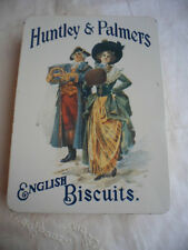 ANTIQUE VINTAGE OLD TIN HUNTLEY and PALMERS ENGLISH BISCUITS