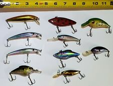 Bass Fishing Minnow Lure Wobbler Rattleing Jerkbait Tackle Crankbait lot Yo-Zuri