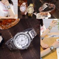 Fashion Casual Luxury Women's Men Stainless Steel Band Quartz Analog Wrist Watch