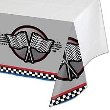 Racing Checkered Flag Race Car Birthday Party Decoration Plastic Tablecover
