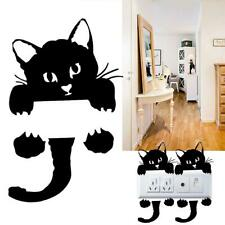 Little Cat Print Living Room Bedroom Switch Decal Wall Sticker Home Decoration