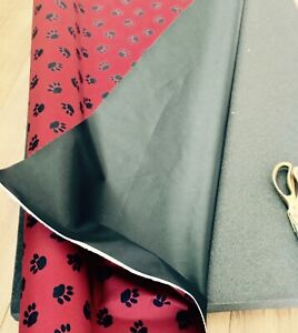 Outdoor Waterproof Dog Paw Prints Pattern Canvas Heavy Weight Polyester Fabric