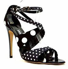 MANOLO BLAHNIK Ankle Wrap High Heel Pump Open Toe Sandals New 11.5