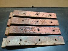 Set of 4 Antique   Rustic Iron Strap Hinges  Stable Farm Barn Door Gate