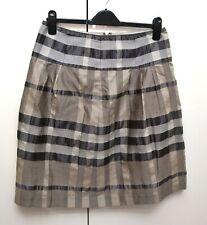 Burberry London Skirt Nova Check Grey Sz UK 12 / Italian 44 / US 8 Vintage