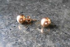 Rose Gold Plated Stainless Steel 7mm Stud Earrings