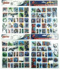 Lot de 100 Stikers 3D / Officiels Marvel / Avengers / Spider-Man - Neufs 4x25