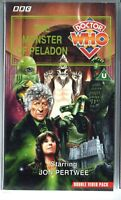 DOCTOR WHO - MONSTER OF PELADON - VHS PAL - COLLECTABLE - JON PERTWEE 1973